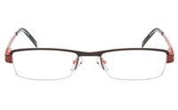 QIANDU 10035 Stainless Steel Womens Semi-rimless Square Optical Glasses