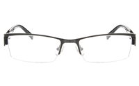 TOEFU T2008 Stainless Steel/ZYL Unisex Semi-rimless Square Optical Glasses