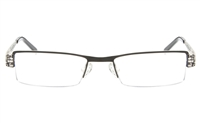 DEMEN SJ036 Stainless Steel Unisex Semi-rimless Square Optical Glasses