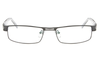 POL P8496 Stainless Steel/ZYL Unisex Semi-rimless Square Optical Glasses