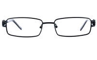 Poesia 6639 Unisex Rectangle Full Rim Optical Glasses