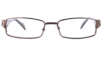 Poesia 6641 Womens Rectangle Full Rim Optical Glasses